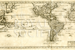 Map of the voyage of Jacob Roggeveen | Royal Society Picture Library